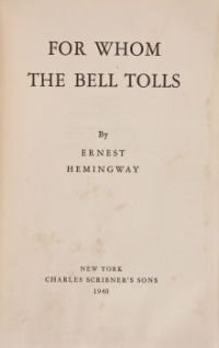 for whom the bell tolls hemingway doomed literary loves