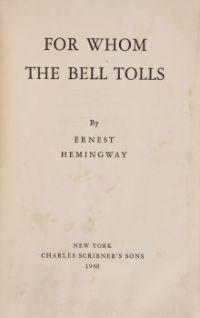 for whom the bell tolls hemingway doomed literary loves