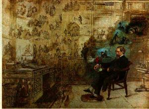 charles dickens in his study
