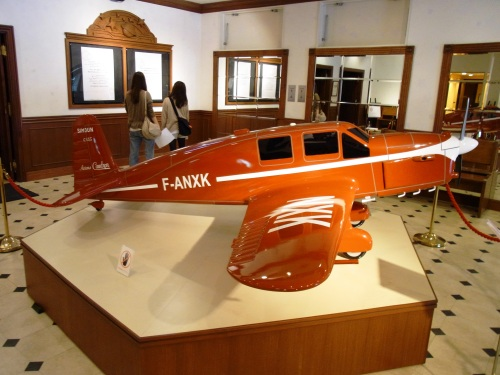 Model of Saint-Exupery's plane at the Museum of the Little Prince Hakone Japan